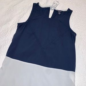 US Polo White and Navy Loose Fitting Top
